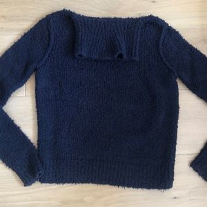 Navy Rag and Bone Knit turtleneck sweater